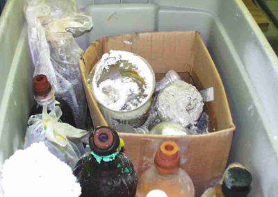 Mixing & Storing of expired Hazardous Chemicals - Bad House Keeping