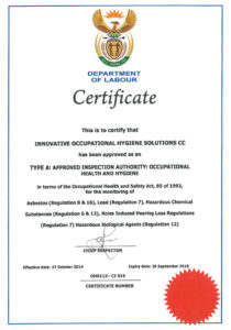 IOH- AIA Certificate DoL exp 29 Sep 2018