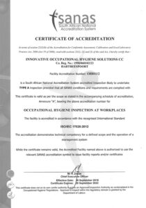 IOH SANAS Certificate of Accreditation 2014-2018